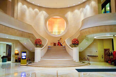 HONG KONG - MAY 31, 2015: Harbour Grand Hong Kong Hotel interior. Harbour Grand Hong Kong is a member of Harbour Plaza Hotels and Resorts