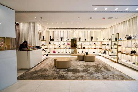 HONG KONG - 26. Januar 2016: Innere des Ladens im Elements Shopping Mall. Elements ist ein großes Einkaufszentrum befindet sich auf 1 Austin Road West, Tsim Sha Tsui, Kowloon, Hong Kong