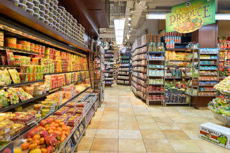NEW YORK - CIRCA MARCH 2016:  inside of West Side Market. West Side Market is a supermarket at Broadway, New York Editorial