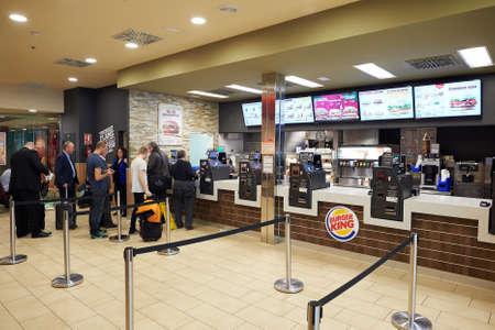 BARCELONA, SPAIN - CIRCA NOVEMBER, 2015: Burger King at Barcelona Airport. Burger King is an American global chain of hamburger fast food restaurants
