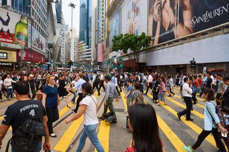 HONG KONG - CIRCA NOVEMBER, 2016: crowd of people walking crossing road in Hong Kong. Stock Photo - 76978688