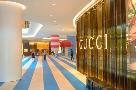 BANGKOK, THAILAND - JUNE 20, 2015: Gucci store at a shopping center in Bangkok.