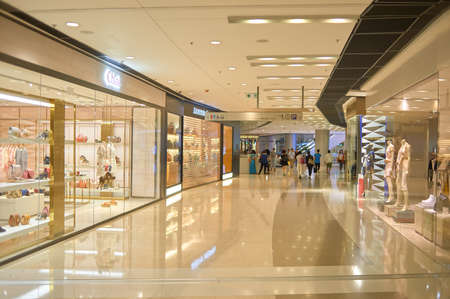 HONG KONG - MAY 05, 2015: inside a shopping center in Hong Kong Editorial