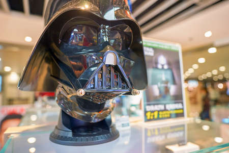 HONG KONG - CIRCA SEPTEMBER, 2016: Darth Vader Helmet on display at Hong Kong International Airport.
