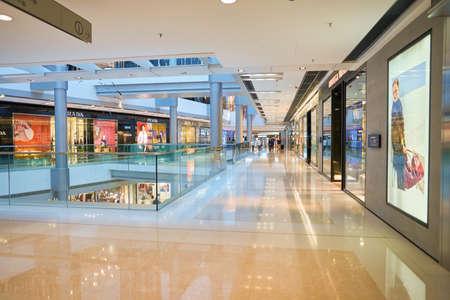 HONG KONG - CIRCA SEPTEMBER, 2016: inside a shopping center in Hong Kong. Shopping is a widely popular social activity in Hong Kong. Editöryel