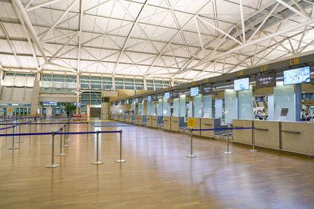 ENCHEON, CORÉE DU SUD - CIRCA JUIN, 2017: zone d'enregistrement à l'aéroport international d'Incheon.