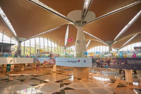 KUALA LUMPUR, MALAYSIA - CIRCA MAY, 2014: inside Kuala Lumpur International Airport. KLIA is Malaysias main international airport and one of the major airports in South East Asia.