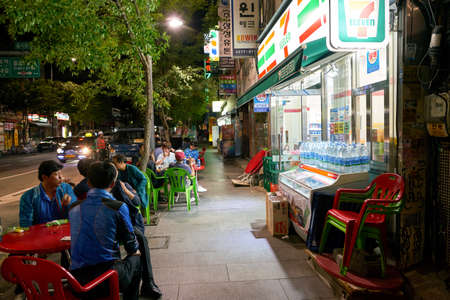 SEOUL, SOUTH KOREA - CIRCA MAY, 2017: 7-Eleven convenience store in Seoul. 7-Eleven is an international chain of convenience stores. Editorial