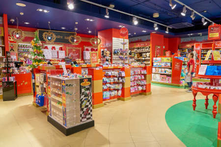 SAINT PETERSBURG, RUSSIA - CIRCA OCTOBER, 2017: inside a Hamleys toy store in St. Petersburg. Hamleys is the oldest and largest toy shop in the world and one of the world's best-known retailers of toys. Editorial