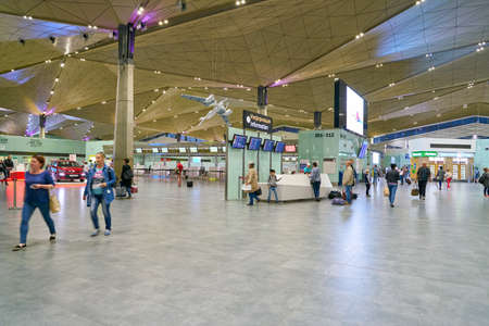 SAINT PETERSBURG, RUSSIA - CIRCA AUGUST, 2017: inside Pulkovo International Airport