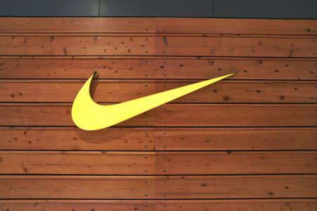 BUSAN, SOUTH KOREA - CIRCA MAY, 2017: close up shot of  Nike sign. Stock Photo - 88873700