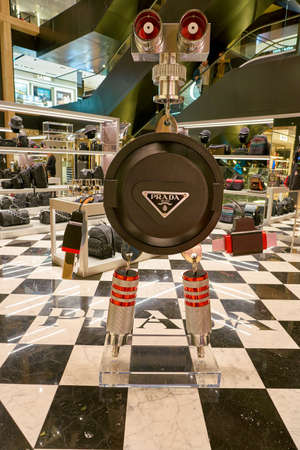 ROME, ITALY - CIRCA NOVEMBER, 2017: Prada shop at a second flagship store of Rinascente in Rome. Stock Photo - 119931021