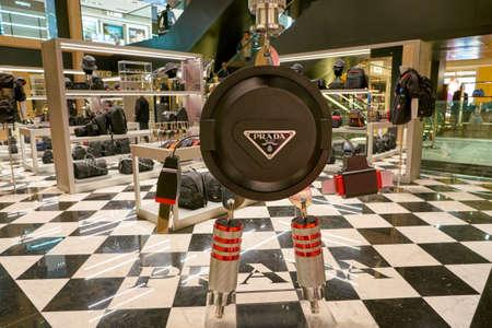 ROME, ITALY - CIRCA NOVEMBER, 2017: Prada shop at a second flagship store of Rinascente in Rome.