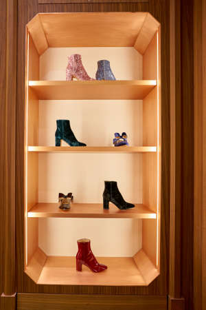 ROME, ITALY - CIRCA NOVEMBER, 2017: womens shoes on display at a second flagship store of Rinascente in Rome.