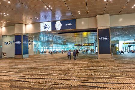 SINGAPORE - CIRCA NOVEMBER, 2015: inside Singapore Changi Airport. Editorial