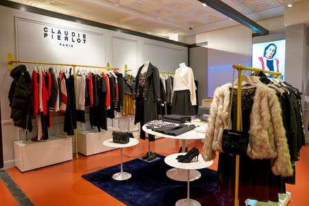 ROME, ITALY - CIRCA NOVEMBER, 2017: womens clothing on display at a second flagship store of Rinascente in Rome. Editorial