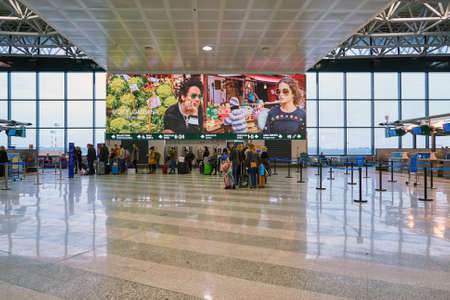 MILAN MALPENSA, ITALY - CIRCA NOVEMBER, 2017: inside Milan-Malpensa Airport, Terminal 1. Editorial