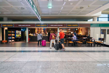 MILAN MALPENSA, ITALY - CIRCA NOVEMBER, 2017: Puro Gusto at Milan-Malpensa airport.