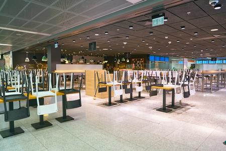 WARSAW, POLAND - CIRCA NOVEMBER, 2017: inside Warsaw Chopin Airport.