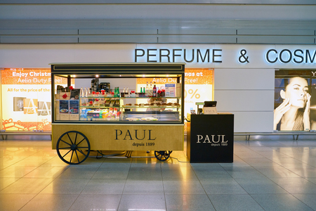 WARSAW, POLAND - CIRCA NOVEMBER, 2017: Paul in Warsaw Chopin Airport. Paul is a French chain of bakerycafe restaurants.
