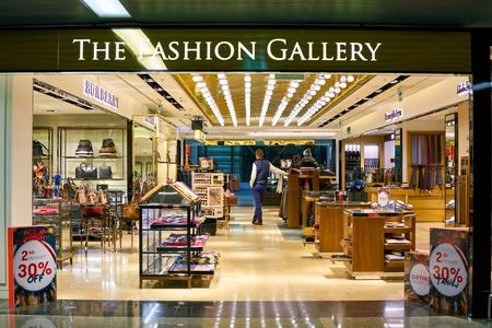 WARSAW, POLAND - CIRCA NOVEMBER, 2017: The Fashion Gallery store in Warsaw Chopin Airport.