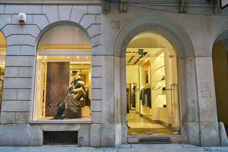 MILAN, ITALY - CIRCA NOVEMBER, 2017: shopfront of a shop in Milan. Editorial