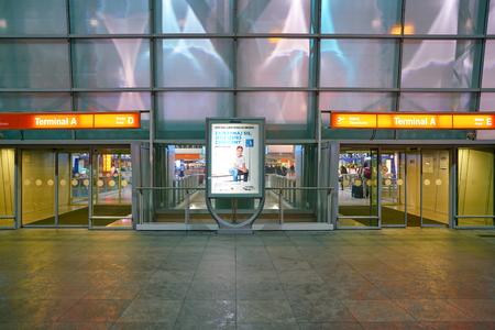 WARSAW, POLAND - CIRCA NOVEMBER, 2017: entrance to Warsaw Chopin Airport Sajtókép