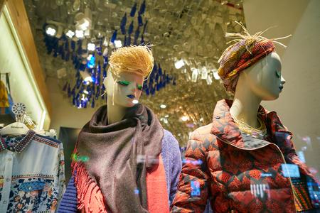 MILAN, ITALY - CIRCA NOVEMBER, 2017: shop window display of clothing at Desigual store in Milan, Italy. Editorial