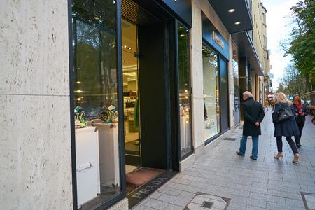 DUSSELDORF, GERMANY - CIRCA SEPTEMBER, 2018: Prada store in Dusseldorf. Stock Photo - 120110974