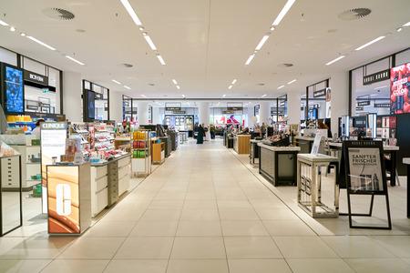 Düsseldorf, Deutschland - ca. September 2018: Innenaufnahme der Galeria Kaufhof in Düsseldorf.