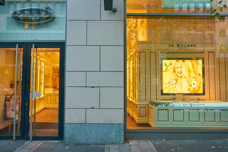 DUSSELDORF, GERMANY - CIRCA SEPTEMBER, 2018: Jo Malone products on display at a shop in Dusseldorf.