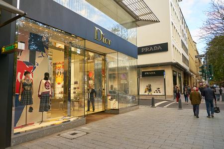 DUSSELDORF, GERMANY - CIRCA SEPTEMBER, 2018: Dior store in Dusseldorf.