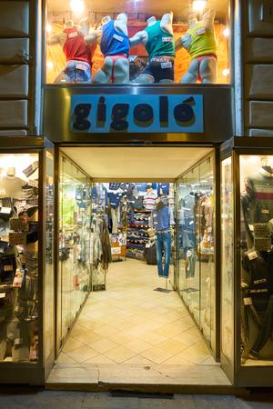 ROME, ITALY - CIRCA NOVEMBER, 2017: entrance to a shop in Rome. Editorial