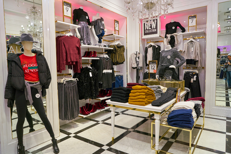 ROME, ITALY - CIRCA NOVEMBER, 2017: interior shot of Alcott store in Rome. Editorial