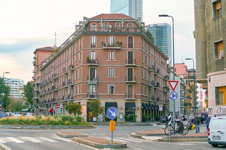 MILAN, ITALY - CIRCA NOVEMBER, 2017: Milan urban landscape. Milan is a city in northern Italy.