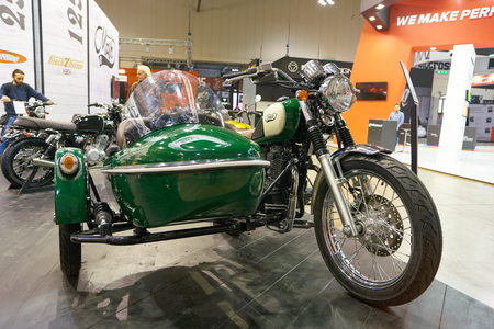 MILAN, ITALY - NOVEMBER 11, 2017: a motorcycle on display at EICMA 2017 - 75th International Motorcycle Exhibition