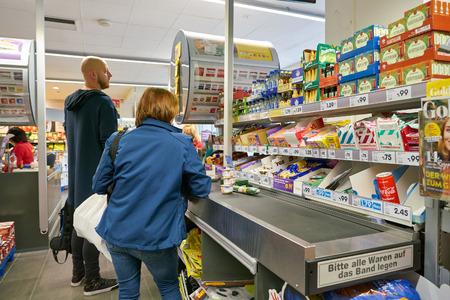 DUSSELDORF, GERMANY - CIRCA SEPTEMBER, 2018: interior shot of Netto supermarket in Dusseldorf. Editorial