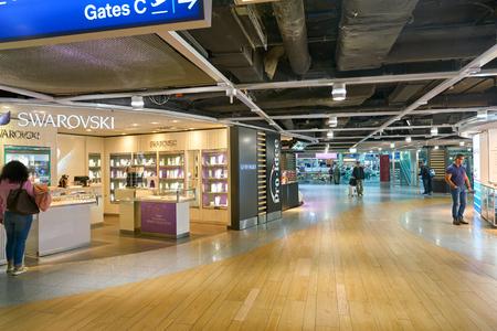 DUSSELDORF, GERMANY - CIRCA SEPTEMBER, 2018: Swarovski shop in Dusseldorf airport.