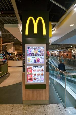 DUSSELDORF, GERMANY - CIRCA SEPTEMBER, 2018: McDonald's restaurant in Dusseldorf airport. Editorial