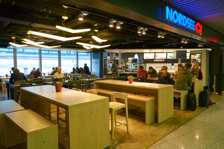 DUSSELDORF, GERMANY - CIRCA SEPTEMBER, 2018: Nordsee restaurant in Dusseldorf airport.