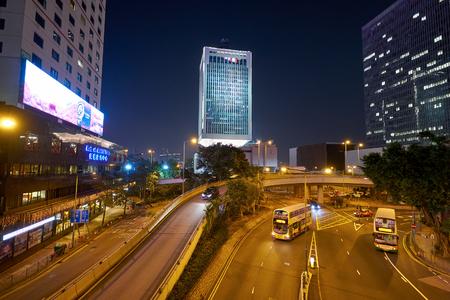 HONG KONG, CHINA - CIRCA JANUARY, 2019: Hong Kong urban landscape at night. Editorial