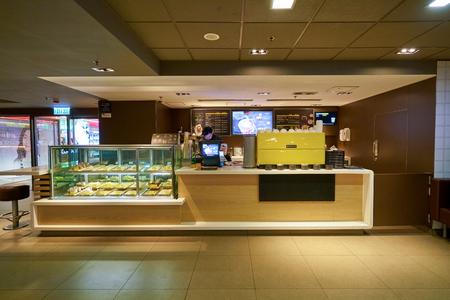 HONG KONG, CHINA - CIRCA JANUARY, 2019: McCafe at a McDonald's store place in Hong Kong. Redakční