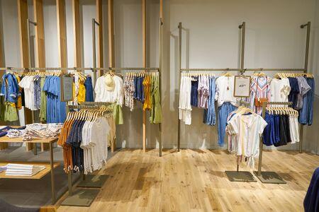 SINGAPORE - CIRCA APRIL, 2019: interior shot of Esprit store in Jewel Changi Airport.