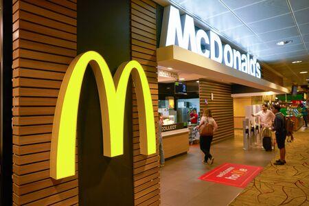 SINGAPORE - CIRCA APRIL, 2019: McDonald's at Changi International Airport. Editorial