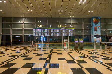 SINGAPORE - CIRCA APRIL, 2019: interior shot of Singapore Changi Airport. Redactioneel