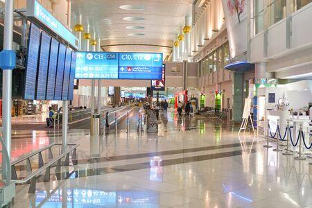 DUBAI, UAE - CIRCA JANUARY, 2019: interior shot of Dubai International Airport. Redactioneel