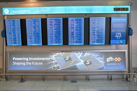 DUBAI, UAE - CIRCA JANUARY, 2019: interior shot of Dubai International Airport. Stockfoto - 134562014
