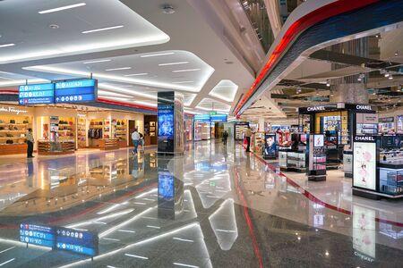 DUBAI, UAE - CIRCA JANUARY, 2019: interior shot of Dubai International Airport. Sajtókép