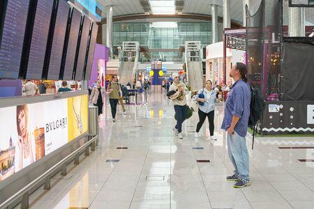 DUBAI, UAE - CIRCA JANUARY, 2019: interior shot of Dubai International Airport. Stockfoto - 134562290