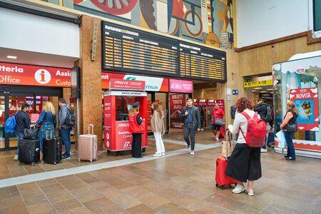 VERONA, ITALY - CIRCA MAY, 2019: interior shot of Verona Porta Nuova Railway Station.